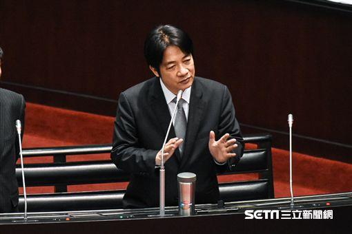行政院長賴清德出席立法院院會總質詢。 圖/記者林敬旻攝