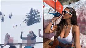 阿爾卑斯山,裸體,露點,Erin Willerton,滑雪 圖/翻攝自每日星報