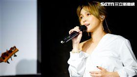 林采欣帶著自己的新專輯返台並舉行演唱會。(圖/易星傳媒提供)