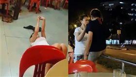嗆「新加坡人沒禮貌」她遭掌摑耍賴倒地 痛哭哀嚎不忘自拍 合成圖/翻攝自臉書