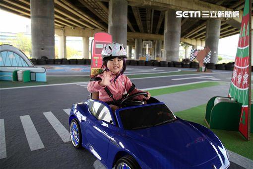 新北歡樂CAR,三重水漾公園,大台北都會公園,小汽車,兒童節。(圖/記者簡佑庭攝)