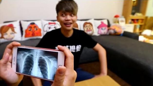 阿嘎揭密i8!手機竟能拍出人體X光