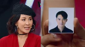 劉嘉玲隨身攜帶梁朝偉證件照。(合成圖/翻攝自微博)