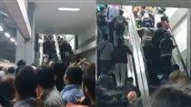 印尼,Duri,地鐵,月台,手扶梯,逆向,擁擠,車站,大廳, 圖/翻攝自推特 https://goo.gl/CPSkx8