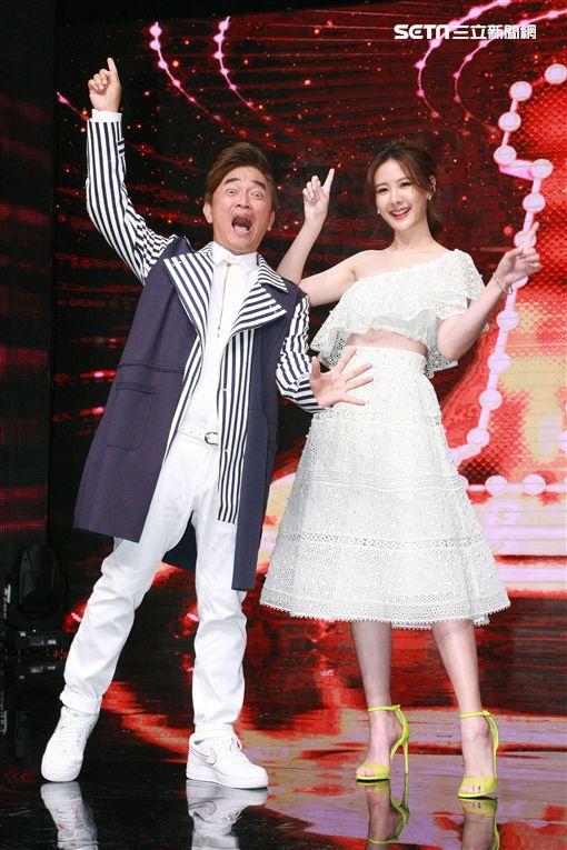 楊謹華 賀軍翔參加新選秀節目「我要當女一」錄影主持人吳宗憲 安心亞