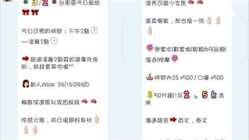 台東,賣淫,LINE,觀光,泰籍,愛滋,性交易(圖/翻攝畫面)