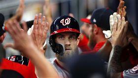 ▲華盛頓國民強打少年Bryce Harper開季4場比賽就敲出3發全壘打。(圖/美聯社/達志影像)