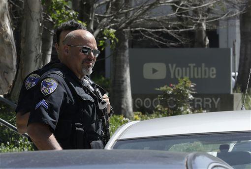 影音網站YouTube加州舊金山總部遭女子槍擊(圖/美聯社/達志影像)