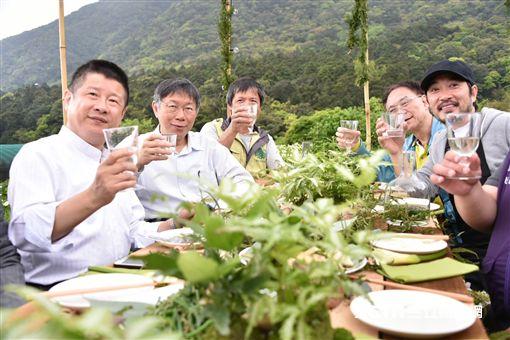 台北市長柯文哲採海芋 北市府提供