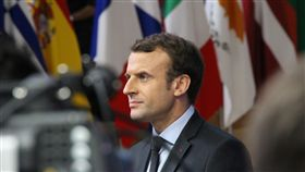法國總統馬克宏 歐盟峰會媒體焦點法國總統馬克宏出席歐盟峰會是矚目焦點,他在媒體鏡頭前展現霸氣架勢。中央社記者唐佩君布魯塞爾攝 107年1月7日
