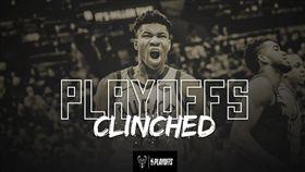 NBA季後賽,公鹿(圖/取自公鹿官方推特)