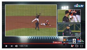 ▲中華職棒史上罕見出現單一play兩隊同時挑戰。(圖/截自CPBL TV)