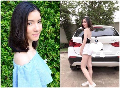 泰國20歲女星Inn(Natnicha Cherdchubupakari)車禍身亡(合成圖/翻攝自thairath)
