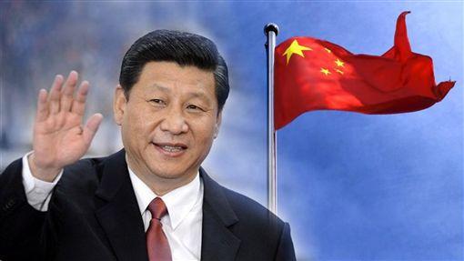 習近平,五星旗,中共,中國,中華人民共和國(合成圖/翻攝自央視微博;Pixabay)