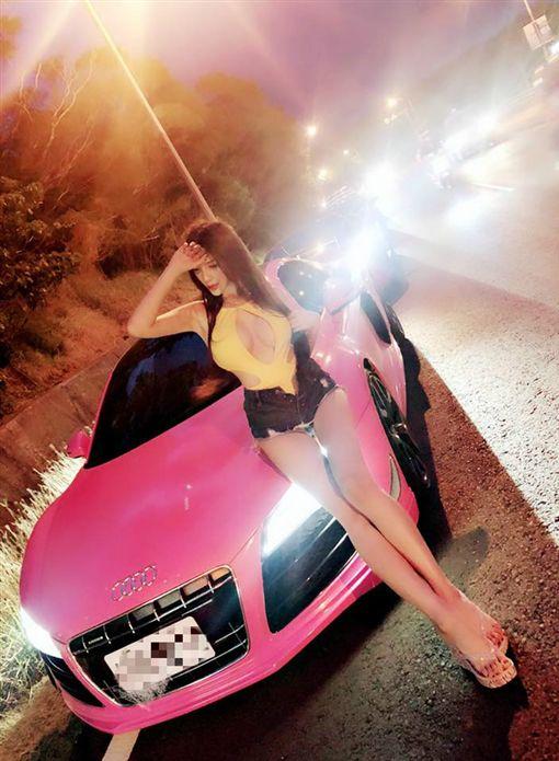 車模,內衣,春天音樂季,墾丁,超跑,奧迪,Audi,R8,Joanna,子涵,春吶,比基尼/子涵臉書