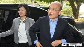 前行政院長蘇貞昌出席民進黨新北市議會幹部交接。 圖/記者林敬旻攝