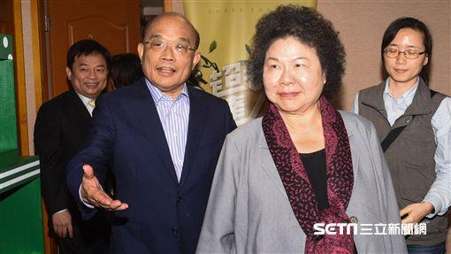 高雄市昂陳菊與前行政院長蘇貞昌見面。 圖/記者林敬旻攝 ID-1313551