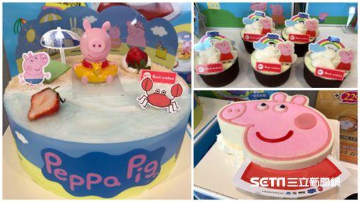 佩佩豬造型蛋糕。(圖/記者簡佑庭攝)