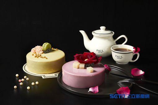 母親節蛋糕, 玫荔馨情, 慕愛茶語。(圖/PAUL法式烘焙坊提供)
