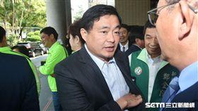 民進黨秘書長洪耀福出席民進黨新北市議會幹部交接。 圖/記者林敬旻攝