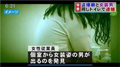 日本,變裝,變態,偷拍,癖好,逮捕 圖/翻攝自YouTube