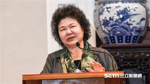 總統府秘書長陳菊上任,總統蔡英文召開記者會茶會。 圖/記者林敬旻攝
