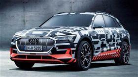 品牌首發電動LSUV暖身作Audi e-tron Prototype 圖車訊網