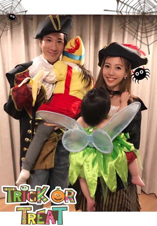 王力宏與李靚蕾育有2女,現在又即將迎接3寶。(圖/翻攝自臉書)