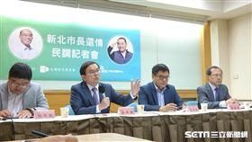 台灣世代智庫公布新北市長最新民調,蘇貞昌微勝侯友宜。(圖/記者李英婷攝)