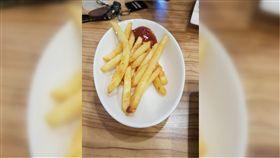 薯條,簡餐店,份量,100元,爆怨公社,爆料公社 圖/翻攝自臉書爆料公社官網