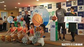 長榮航空與NBA合作邀請Jason Richardson站台(圖/記者劉家維攝)