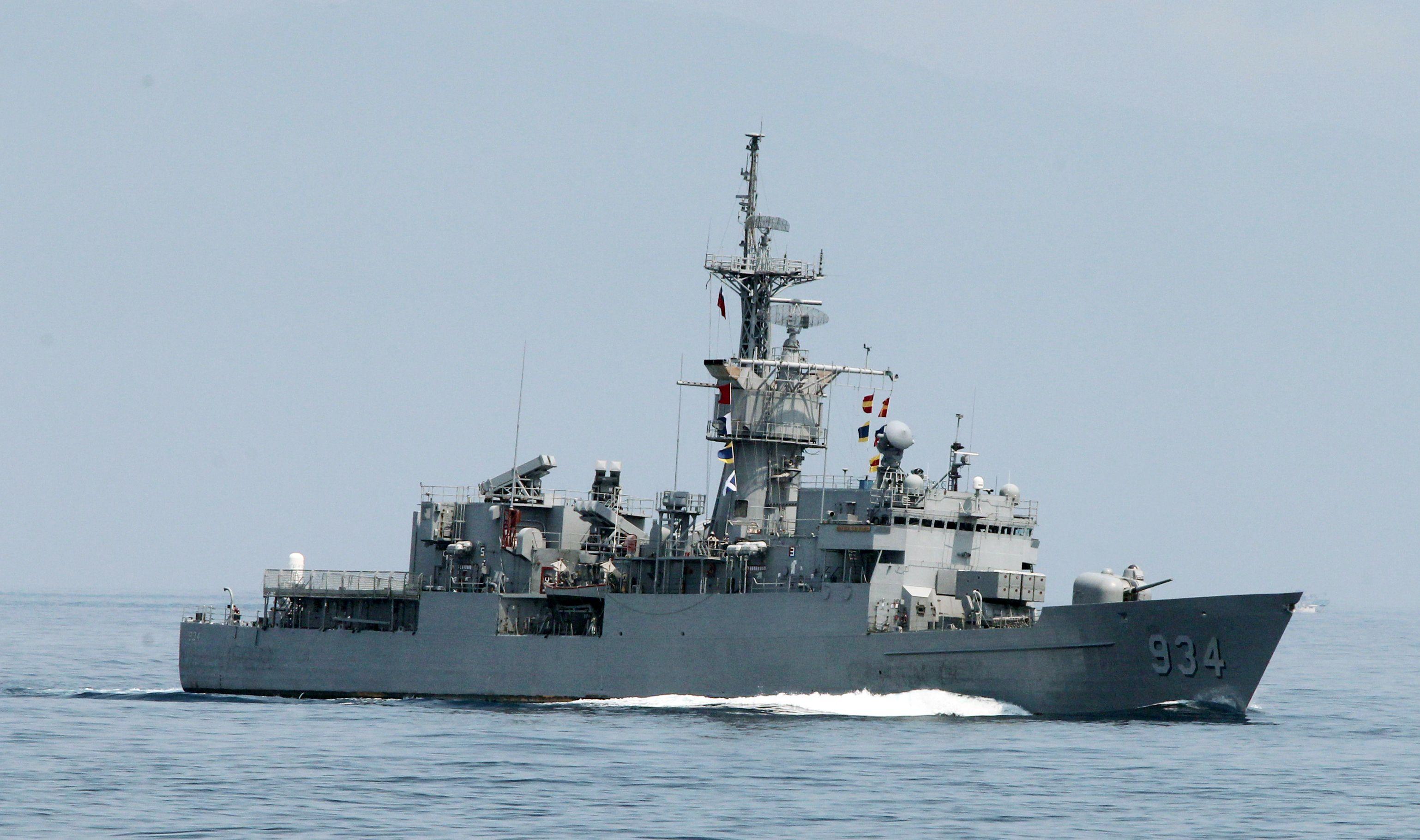 濟陽級飛彈巡防艦執行反潛、偵巡、防衛作戰任務。(記者邱榮吉/蘇澳拍攝)