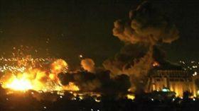 美英法空襲敘利亞 首都大馬士革 圖翻攝自微博
