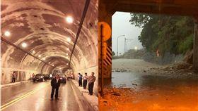 民眾在臉書po文求救,表示蘇花公路落石不斷,多人被困在隧道。(圖/翻攝臉書)