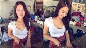 泰國「雞肉飯正妹」美到冒泡 網暴動:出團囉! 圖/翻攝臉書