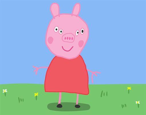 ▲佩佩豬正面照曝光。(圖/翻攝自推特)