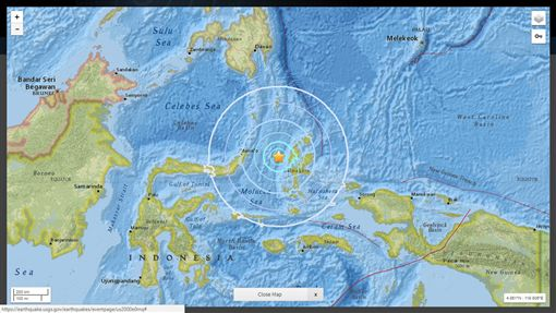 印尼16日發生規模5.9地震(圖/翻攝自推特)