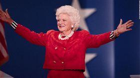 美國前總統老布希(George H.W. Bush)的妻子芭芭拉(Barbara Bush)/圖/翻攝自推特
