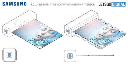 三星(Samsung)將推出可捲曲螢幕的手機,外觀宛如一支輕便的「唇膏」(圖/翻攝自LETSGODIGITAL)