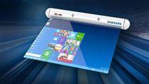 三星(Samsung)將推出可捲曲螢幕的手機,外觀宛如一支輕便的「唇膏」(圖/翻攝自PHConcepts YouTube)