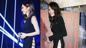 鄧紫棋,撞衫,許瑋甯,Nicole + Felicia黑色禮服。(合成圖/翻攝自網路)