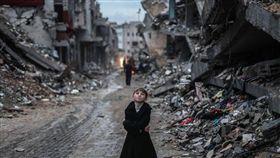 敘利亞,拉卡,空襲(圖/翻攝自推特)