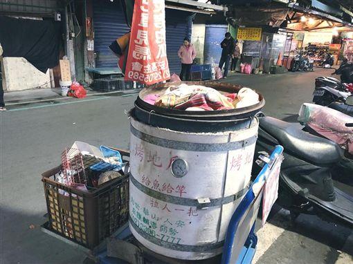 單親媽媽擺攤賣地瓜,零錢竟然被偷(翻攝自人安基金會-新北平安站臉書)
