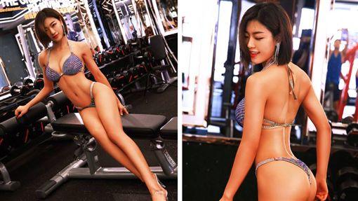 有網友日前看健身的影片時,發現一位亞洲「美尻健身妹」,他立刻上網求大神幫忙找人肉。最後有網友發現,該名健身妹是大陸網紅「王琳琳」,更驚人的是,王琳琳只花半年就練出一身好身材,令眾人羨慕不已。(圖/翻攝自微博)