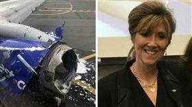 美國,西南航空,女機長,引擎,爆炸(圖/翻攝自推特)