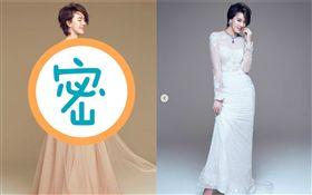 劉雨柔的手工婚紗由White Atelier量身訂作。(圖/翻攝自臉書)