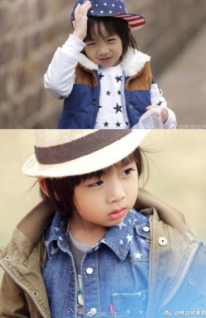林志穎跟老婆陳若儀,8歲的兒子Kimi。(合成圖/翻攝自微博)