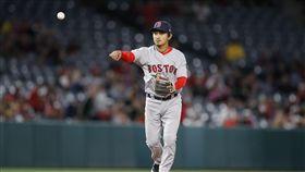 ▲台灣野手林子偉守備幫助波士頓紅襪持續連勝。(圖/美聯社/達志影像)