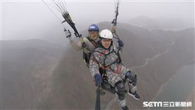 韓國丹陽飛行傘, 滑翔傘。(圖/記者簡佑庭攝)