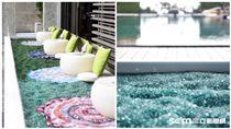 W綠洲計畫打造回收玻璃再造沙灘。(圖/台北W飯店提供)